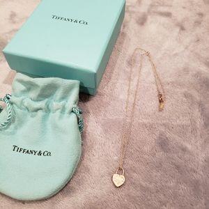 Tiffany & Co. Heart Lock Pendant Necklace